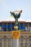 Figura Beregin sul monumento di indipendenza dell'Ucraina in Kie Fotografia Stock
