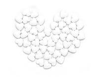 Figura bianca del cuore del modulo delle pillole Fotografia Stock Libera da Diritti