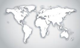 Figura bianca del mondo con ombra Fotografie Stock Libere da Diritti