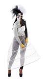 Figura in bianco e nero Fotografia Stock Libera da Diritti