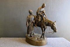 Figura bronzea Fotografie Stock Libere da Diritti