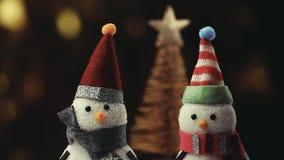 Figura calidad del muñeco de nieve del estudio almacen de metraje de vídeo