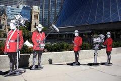 Figura canadese del soldato del tiff fotografie stock libere da diritti