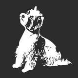 Figura cane di bianco illustrazione vettoriale