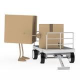 Figura carrello del pacchetto del caricamento Fotografie Stock