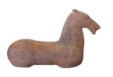 Figura china antigua del caballo aislada foto de archivo