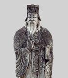 Figura china de la piedra del guarda en Wat Pho, Bangkok, Tailandia Fotos de archivo