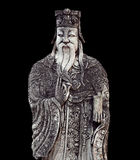 Figura china de la piedra del guarda en Wat Pho, Bangkok, Tailandia Imagen de archivo