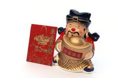 Figura chinesa do mammon para a boa sorte fotografia de stock royalty free
