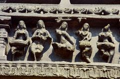 Figura cinzelada, complexo do templo, forte de Warangal, Warangal, Telangana imagem de stock royalty free