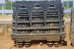 Figura cinzelada, complexo do templo, forte de Warangal, Warangal, Telangana fotografia de stock