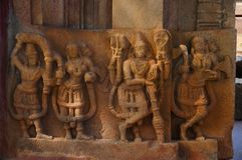 Figura cinzelada, templo de Ramappa, Palampet, Warangal, Telangana imagens de stock royalty free