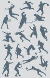 Figura coleção 2 dos esportes do vetor Imagens de Stock