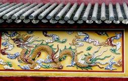 Figura colorida do dragão do mosaico foto de stock royalty free
