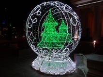 Figura com árvores de Natal Fotos de Stock