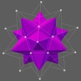 Figura composta dell'Dodecahedron-icosaedro per il vostro web design illustrazione di stock