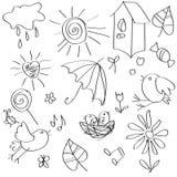 Figura con los pájaros Libre Illustration