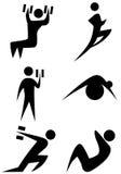 Figura conjunto del palillo del ejercicio Imagen de archivo