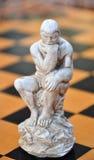 Figura corvo di scacchi fotografia stock libera da diritti