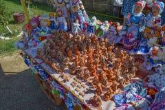 Figura a cosacos de las migas de pan La imagen de la cultura étnica Imagen de archivo libre de regalías
