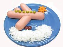 Figura creativa dell'aereo e della nube del porridge Fotografia Stock
