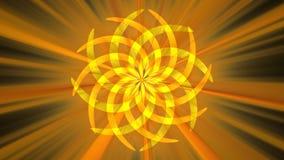 Figura curva arancione astratta Fotografia Stock Libera da Diritti