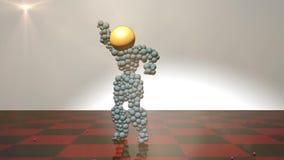 figura 3d animada y baile ilustración del vector