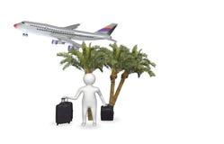 figura 3D con l'aeroplano Fotografia Stock