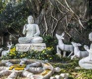 Figura da Buda na montanha mable Foto de Stock Royalty Free