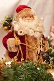 Figura da decoração de Santa Claus Imagens de Stock Royalty Free