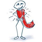 Figura da vara como um herói ilustração do vetor
