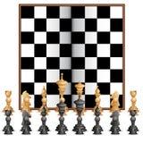Figura da xadrez com placa ilustração royalty free