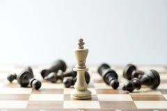 Figura da xadrez, estratégia do conceito do negócio, liderança, equipe e SU Imagem de Stock Royalty Free