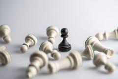 Figura da xadrez, estratégia do conceito do negócio, liderança, equipe e SU Fotos de Stock Royalty Free
