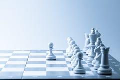 Figura da xadrez, estratégia do conceito do negócio, liderança, equipe e SU Foto de Stock