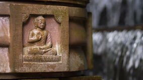 Figura de assento de Buddha video estoque
