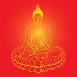 Figura de assento de Buddha Ilustração do vetor Fotos de Stock