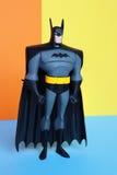 Figura de Batman en fondo de los colores en colores pastel Fotografía de archivo