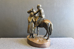 Figura de bronze Fotografia de Stock Royalty Free