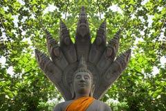 figura de Buda con la cobra real gardian Foto de archivo