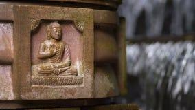 Figura de Buddha que se sienta almacen de video