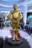 Figura de C-3PO do modelo de Star Wars na exposição foto de stock royalty free