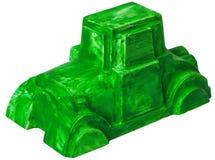 Figura de cerámica del yeso del coche verde Fotografía de archivo libre de regalías