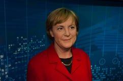 Figura de cera de Angela Merkel en señora Tussauds fotos de archivo