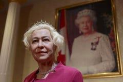 Figura de cera da rainha elizabeth ii Imagens de Stock