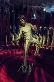 Figura de cera de Bruce Lee imagens de stock