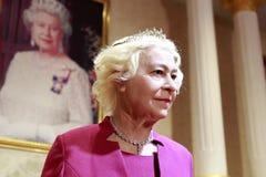 Figura de cera de la reina Elizabeth ii Imagen de archivo libre de regalías