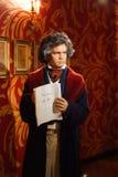Figura de cera de Ludwig Van Beethoven en el objeto expuesto de señora Tussauds fotos de archivo