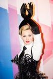 Figura de cera de Madonna imagenes de archivo