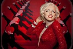 Figura de cera de Marilyn Monroe Fotos de archivo libres de regalías